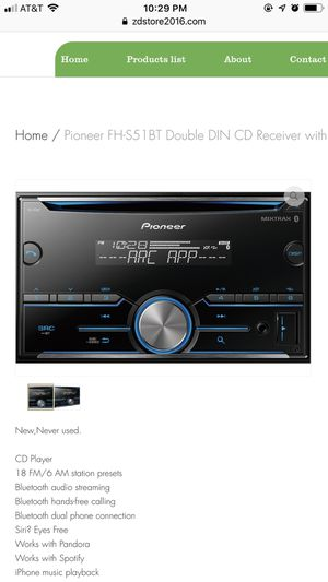 Pioneer FH-S51BT Double DIN CD Receiver with built-in Bluetooth for Sale in Houston, TX