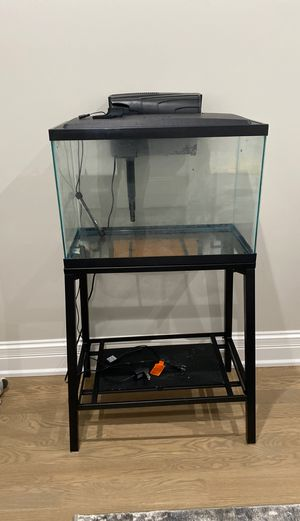 20 Gallon Fish Tank w/ Stand & All Necessities for Sale in Bedford Park, IL