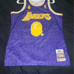 BAPE lakers size medium $60 Today for Sale in Raleigh,  NC