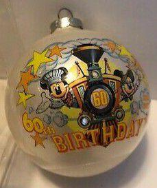 1988 Glass Ball Christmas Ornament ~ MICKEY MOUSE 60th BIRTHDAY ~ WALT DISNEY CO for Sale in Warren, NJ