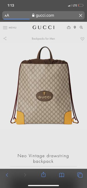 Gucci drawstring backpack for Sale in Santa Ana, CA