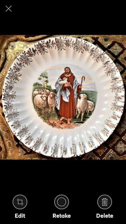 Vintage PLATE SANDERS MFG CO NASHVILLE JESUS GOOD SHEPERD 23K GOLD for Sale in Lynchburg,  VA