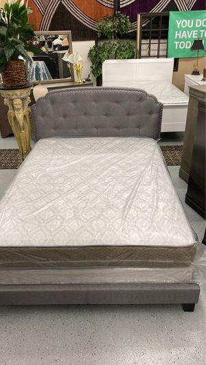 Furniture mattress- Queen bed frame + mattress for Sale in McClellan Park, CA