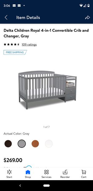 Crib/changing table for Sale in Taylor, MI