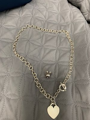 Tiffany sterling silver necklace. Pandora Minnie Mouse Charm for Sale in Miami, FL