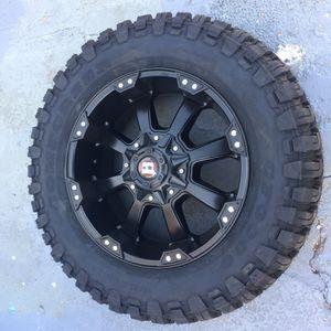 "New 20"" black Ballistic Rims and New tires 20 off-road Wheels 20s super Duty Rines y llantas 2017 F 250 f-250 2016 f250 rines 2008 llantas 2009 y 201 for Sale in Dallas, TX"