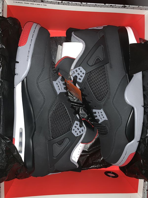 "Jordan 4 ""Bred"" size 13"