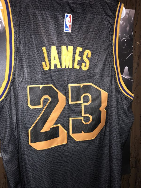outlet store c5f79 87206 Nike Lebron James Los Angles Lakers Black Hollywood Nights Jersey Size XXL  for Sale in Vancouver, WA - OfferUp