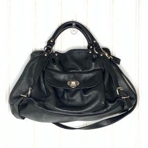 Audrey Brooke black genuine leather large purse for Sale in Seattle, WA