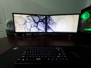 Dual 27in 1080p LG monitors 16:9 for Sale in Santa Ana, CA