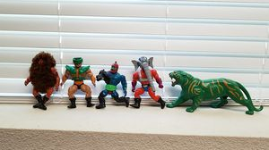 He Man Vintage Action Figures set of 5. Snout Spout, Grizzlor, Tri-Klops, Trap Jaw, Battle Cat. Well kept Conditions and working parts for Sale in Campbell, CA