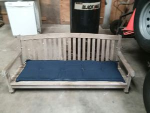 Solid teakwood porch swing for Sale in Houston, TX