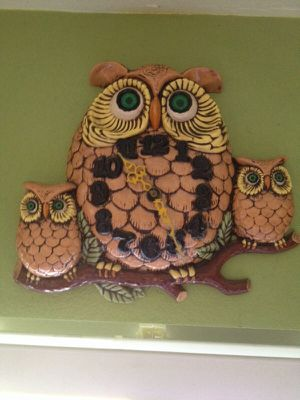 Vintage 60's-70's Owl Wall Clock! Works! for Sale in Centennial, CO