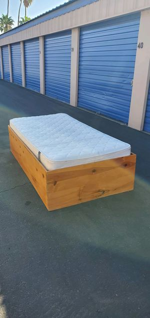 Bed frame with twin mattress for Sale in Thousand Palms, CA