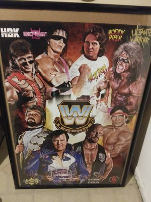 framed wwe legends poster for Sale in Los Angeles, CA