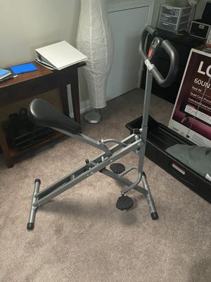 Sunny Health & Fitness Squat Assist Row-N-Ride Trainer for Squat Exercise and Glutes Workout. And sunny health fitness foldable semi recumbent magn for Sale in Gaithersburg, MD
