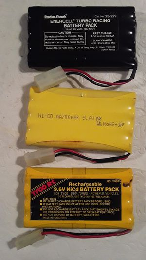 (3) 9.6V NiCd Rechargeable Battery Packs for Sale in Hallandale Beach, FL