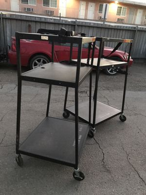 Rolling carts with electric outlets $25 each for Sale in Downey, CA