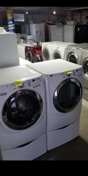 Sale store full of nice reconditioned☔🥀☔🥀 refrigerator washer dryer stove stackable+financing available a free warranty for Sale in Seattle, WA