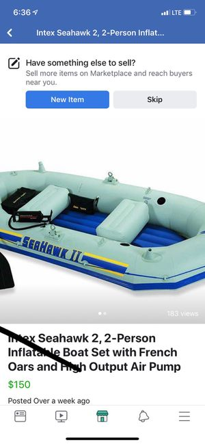 Blow up boat- like new for Sale in Lake Dallas, TX