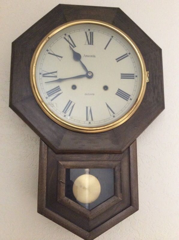 Ansonia Wall Clock Wind Up