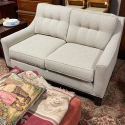 Upholstered Wheat 2 Cushion Loveseat With Button for Sale in Norcross,  GA