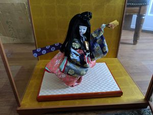 Authentic Japanese Hina Doll With Decorative Glass case for Sale in Pensacola, FL