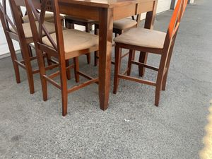 DINING TALL TABLE 6 STOOLS for Sale in Fresno, CA