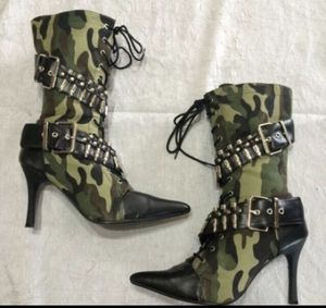 Camo Ammo Boots - Halloween for Sale in Cedar Hill, TX