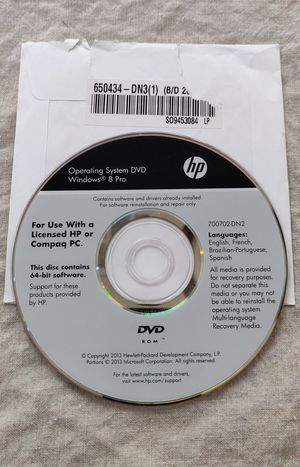 OEM Windows 8 64 bit installation CD. Includes windows key. for Sale in Phoenix, AZ