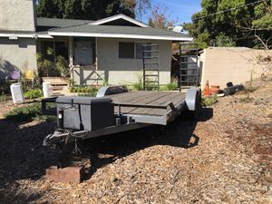 Trailer with winch and rampas for Sale in Encinitas, CA