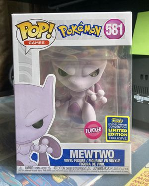 Funko POP Mewtwo Pokemon (Flocked) Summer Convention for Sale in East Los Angeles, CA
