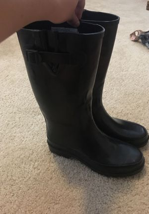 Black Rain Boots SZ 8 for Sale in Raleigh, NC