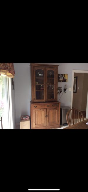Antique Oak Cabinet/Hutch for Sale in Bowie, MD