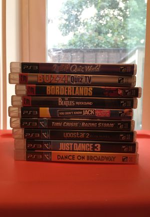 PS3 Video Game Bundle Some NWT others Good Used Condition for Sale in Issaquah, WA
