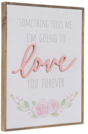 Love you forever baby / girls room wall art for Sale in Yorba Linda, CA