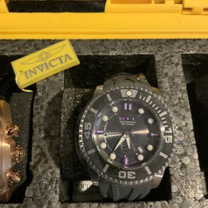 Invicta Black Face Purple Accents Watch for Sale in Sloan, NV