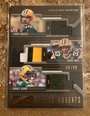 Green Bay Packers 3 Card Lot!! Rodgers/Favre/Jones/Adams!! for Sale in Phoenix, AZ
