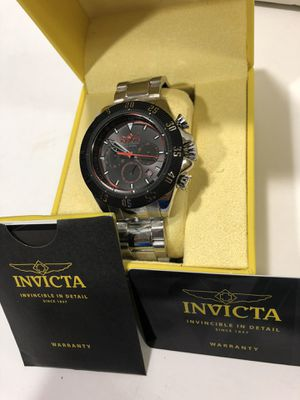 Invicta watch exclusive silver and black for Sale in Los Angeles, CA
