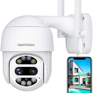 HeimVision PTZ Security Camera Outdoor, 2x2MP Ultra HD Dual Lens, Pan/Tilt/12X Zoom, 360° View, Wi-Fi Wireless Camera with Floodlights, Color Night Vi for Sale in Portland, OR