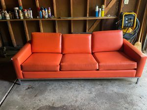 Mcm orange and chrome couch for Sale in Cleveland, OH