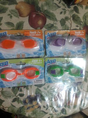 Youth 7+Silicone Goggles and Jr. Swim Goggles $5 Each for Sale in Phoenix, AZ