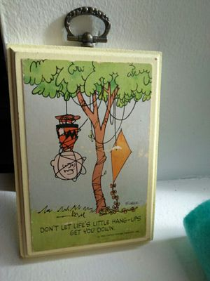 Cutest Vintage Peanuts Charlie Brown Plaque for Sale in Chicago, IL