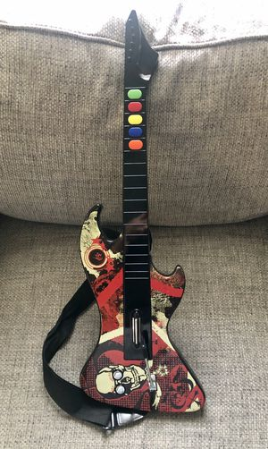 PS2 - PlayStation 2 React Guitar Hero Guitar Reaper Model RTPS2696 Wireless PS2 No Dongle for Sale in Fresno, CA