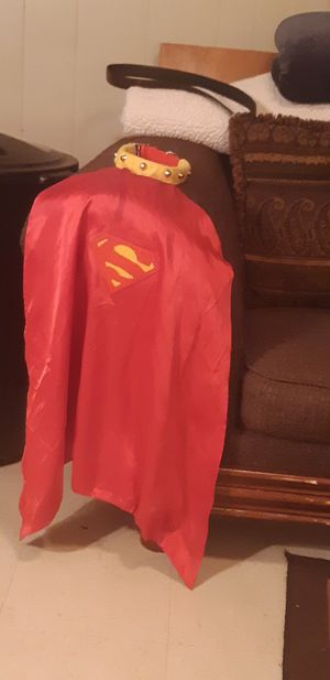 Superman costume for a dog for Sale in Lubbock, TX