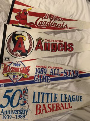 Vintage pennants/flags baseball (angels) for Sale in Upland, CA