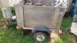 Utility trailer with fire wood for Sale in Oregon City, OR