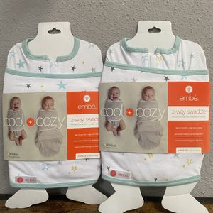 Embe 2-way swaddle NEW, set of 2. Price FIRM pls for Sale in Katy, TX