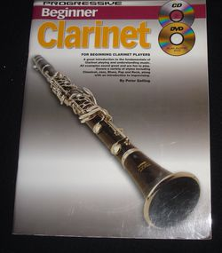Progressive Beginner Clarinet MUSIC/ CD /DVD METHOD INSTRUCTIONAL for Sale in Oceanside,  CA