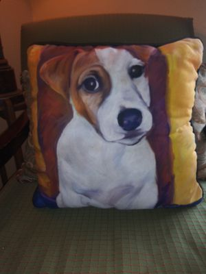 Decorative Jack Russell Terrier Dog Throw Pillow for Sale in Phoenix, AZ